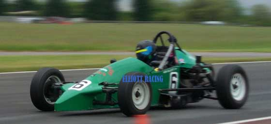 Irish Formula Vee Driver KEN ELLIOTT in his Leastone